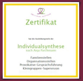 Zertifikat Therapeut/in der Individualsynthese®